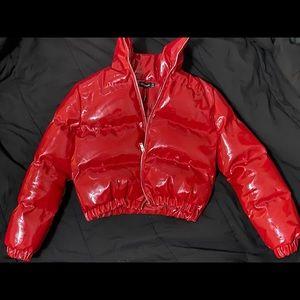 Red Bubble Coat